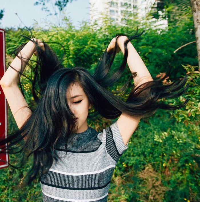 BLACKPINK 블랙핑크 Rosé ❤ #black_hair