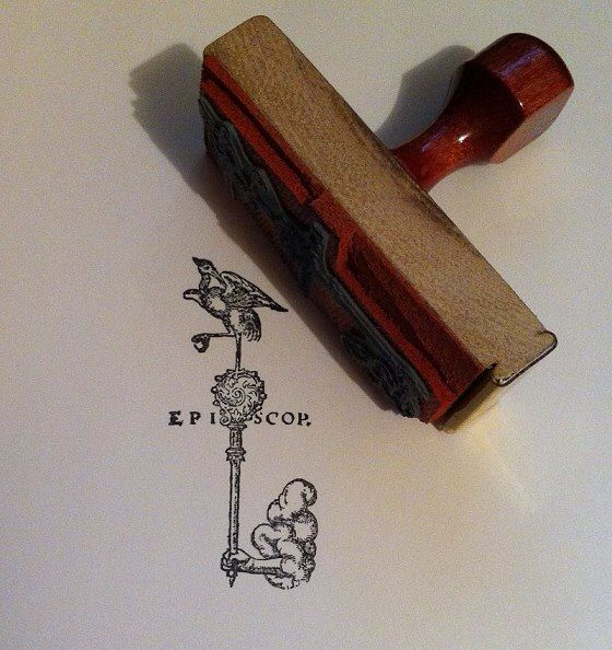 A rubber stamp I made for episcop.