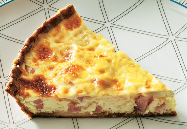 Quiche de bacon y queso gruyer