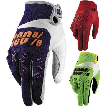 100% Racing Airmatic Youth Dirt Bike Off Road Riding MX Motocross Gloves