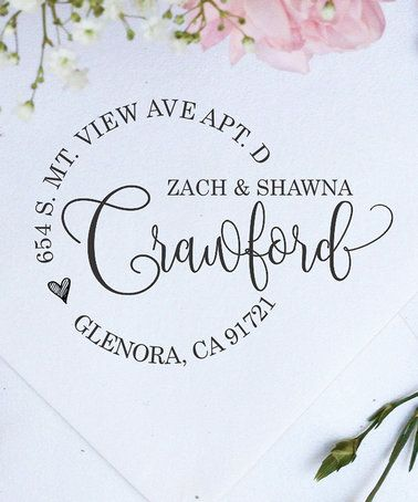 Another great find on #zulily! Zach & Shawna Personalized Self-Inking Return Address Stamp #zulilyfinds