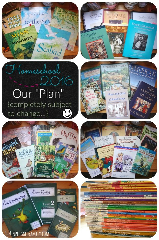 """The Unplugged Family: Homeschool 2016 - Our """"Plan"""", Living Books, Charlotte Mason, Notebooking, and how we hope to walk and grow this year..."""