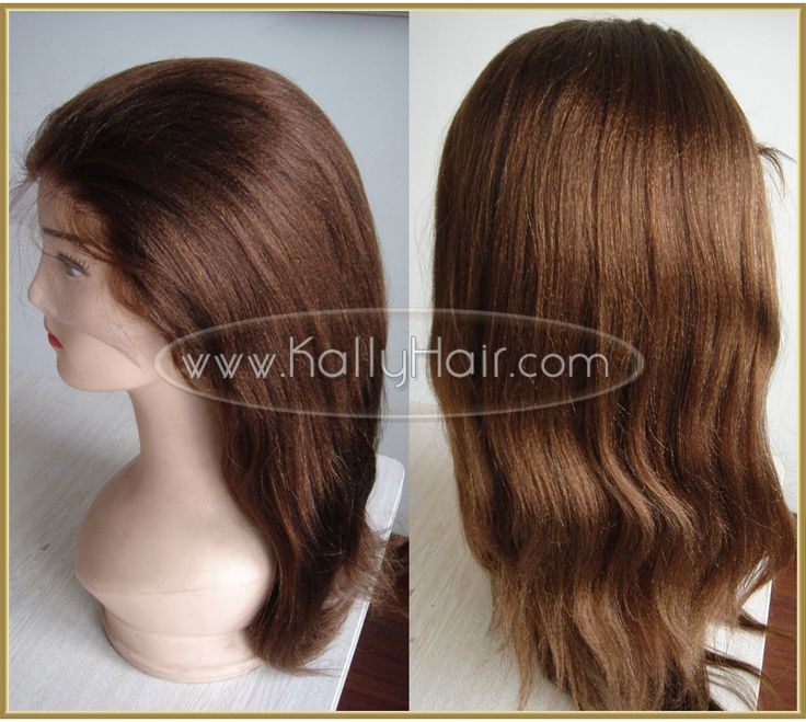 18inch #4 Human Full Lace Yaki Wigs Online For Sale
