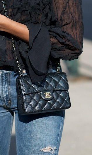 1ba56ef4a9b5 CHANEL Classic Flap Mini Square | S H O P | Chanel classic flap ...