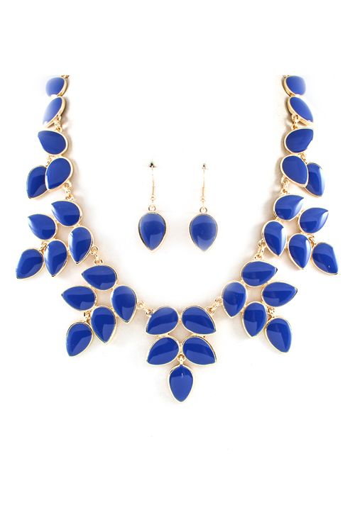 Mia Necklace | Royal Blue