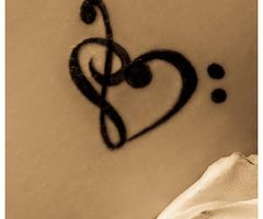 Music Heart Tattoo Idea