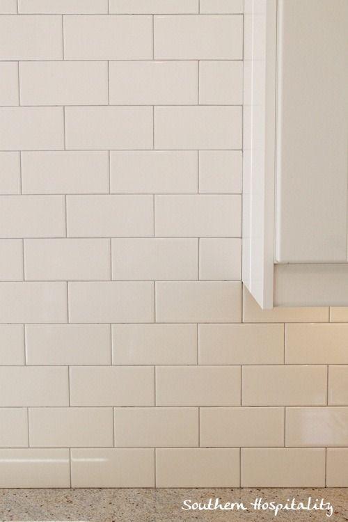 how to install a subway tile backsplash | Southern Hospitality