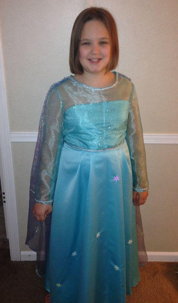 Disney Inspired Frozen Snow Queen Girls Costume 7-14 ...