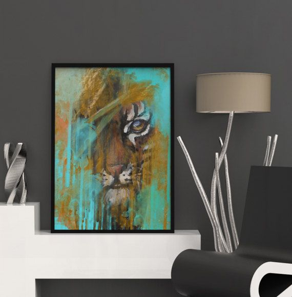 Tiger Art, Large Abstract Decor, Digital Download, Abstract Poster, Abstract Art, Wall Poster, Tiger Print, Modern Art Prints, Abstract Print