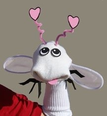 Add cotton balls and lose the antenna to make a sheep