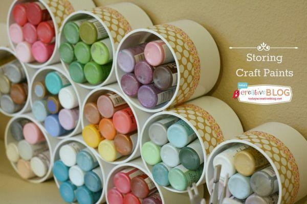 Craft Room Storage Ideas   TodaysCreativeBlog.net