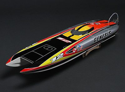 Price - $349.95. NEW Genesis Almost Ready To Run RC Model Boat Brushless Watercooled Motor ARTR ( State of Assembly - Almost Ready    )