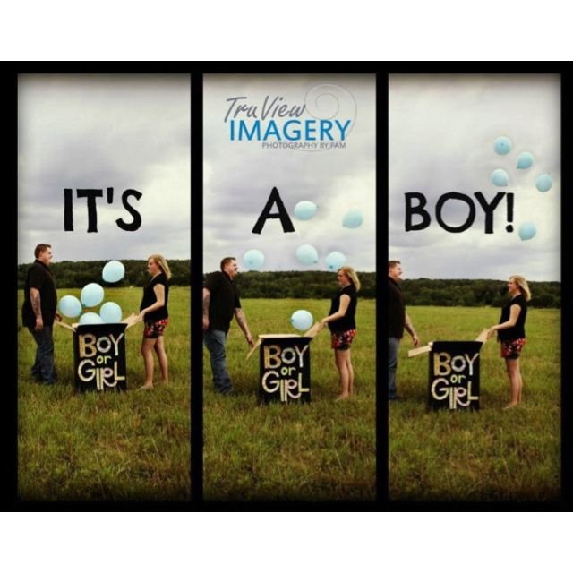 Gender reveal photo shoot