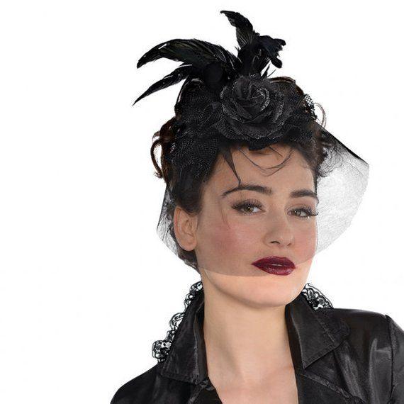 Adults Gothic Fascinator Halloween Headband Gothic Headband With Images Halloween Headband Fascinator Plastic Headband