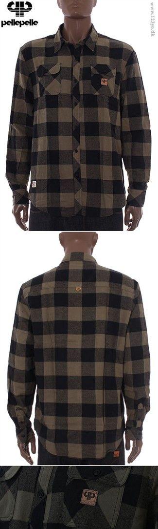 PELLE PELLE Langærmede Flannel skjorte