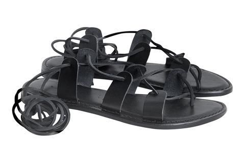 Department of Finery Havana Fine Leather Sandal BLACK