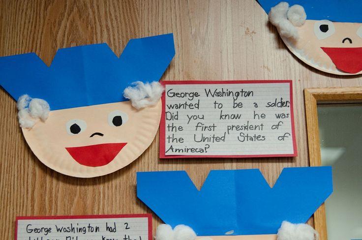 George Washington paper plate craft...cute