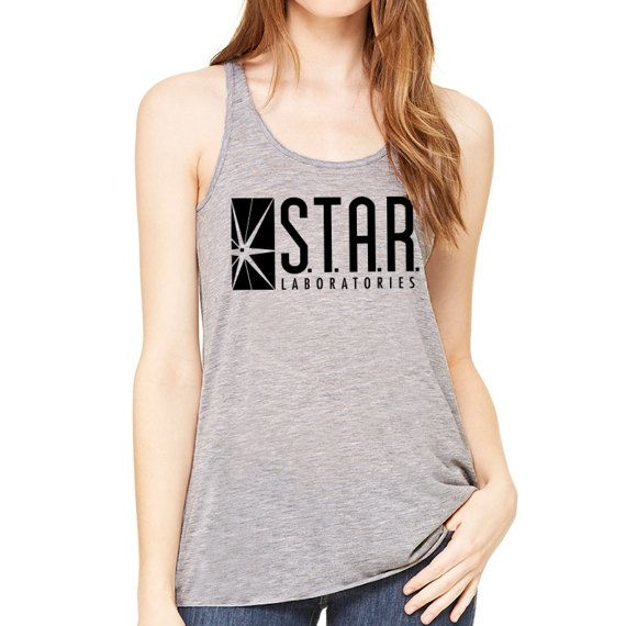 Star Labs Racerback Tank Top - STAR Laboratories, The Flash TV, Star Labs Shirt, Star Labs Sweater, Flash Shirt, Flash Tank Top