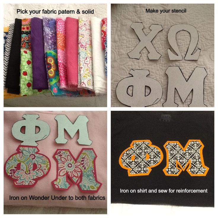 Make your own sorority letter shirts  sorority crafts