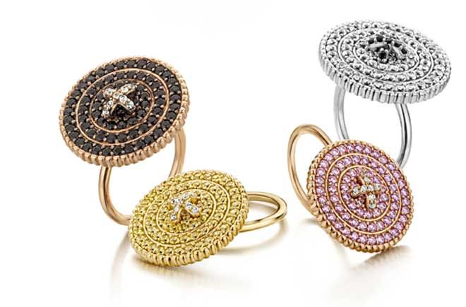 Rings from the NANIS Italian Jewelry's BOTTONI Collection.