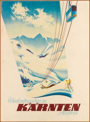 Winter-in-Karnten-Austria-Austrian-Europe-Vintage-Travel-Advertisement-Poster