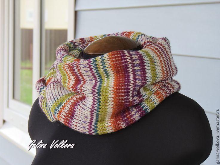 Купить Шарф Осенний - разноцветный, шарф, шарф женский, шарф мужской, шарф модный