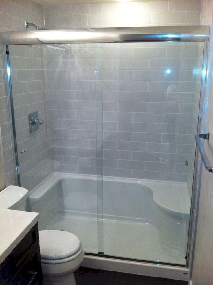 75+ Beautiful Small Bathroom Shower Remodel Ideas | Tub to ...