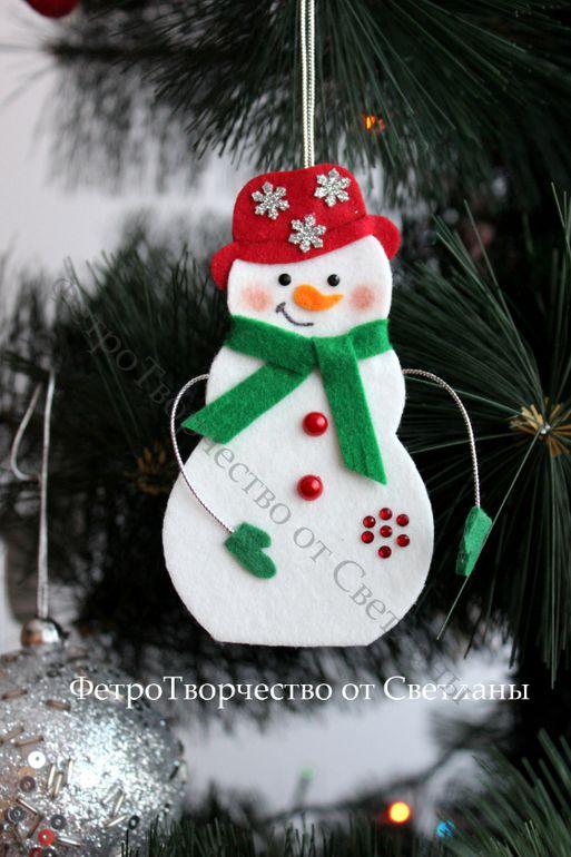 Простенькие елочные игрушки из фетра :) - Рукоделие - Babyblog.ru