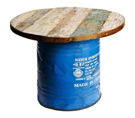 Amazon.com: Reclaimed Oil Drum and Boat wood Coffee Table HIPSTER: Home & Kitchen