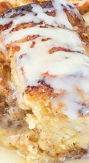 Eggnog Cinnamon Roll Bread Pudding (Christmas Bake Treats)