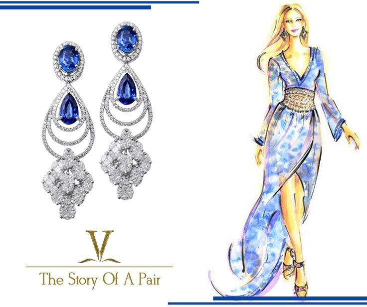 Downplay on your cocktail dress with these flawless earrings.  A perfect pair of earrings for all your occasions.