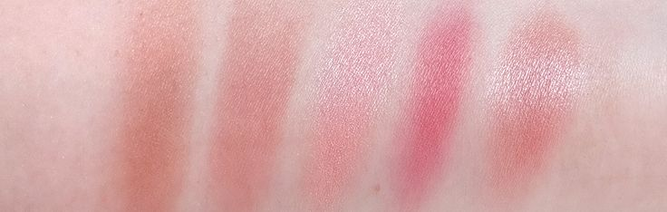 The Barely There Blushes - Tarte Amazonian Clay Blush in Exposed, Bobbi Brown Blush in Nectar, NARS Blush in Douceur, Max Factor Creme Puff Blush in Lovely Pink, Rimmel Lasting Finish Soft Colour Blush in Pink Rose - Review & Swatches