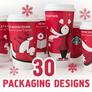 Christmas Packaging : We all know it's that time of year, when santa comes around and every brand puts him up on their product cover to help sell more, here is a good selection I made of christmas Pac