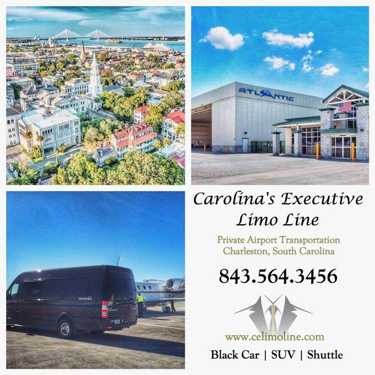Charleston Private Airport Car Service from Atlantic Aviation. Black Mercedes Sprinter Van. Carolina's Executive Limo Line. 843.564.3456  http://www.celimoline.com/charleston-airport-car-service