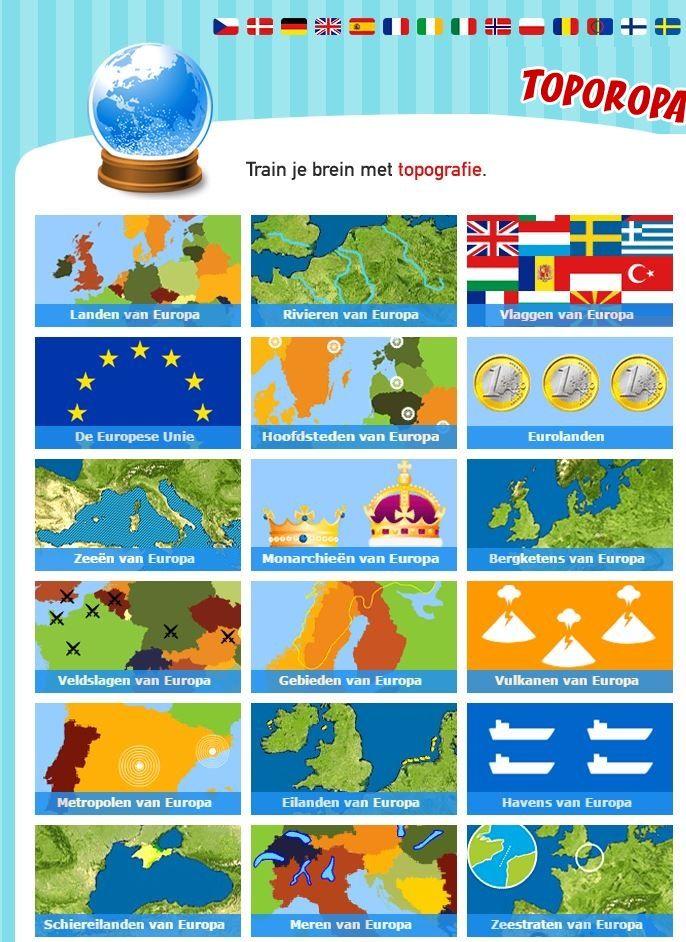 Topografie en Aardrijkskunde lessen worden leuker met deze quizzen.