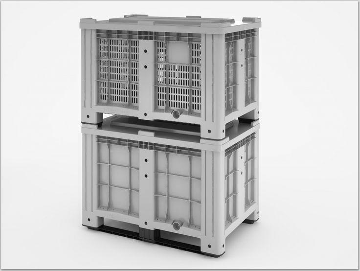 Большие пластиковые контейнеры со сплошными и перфорированными стенками