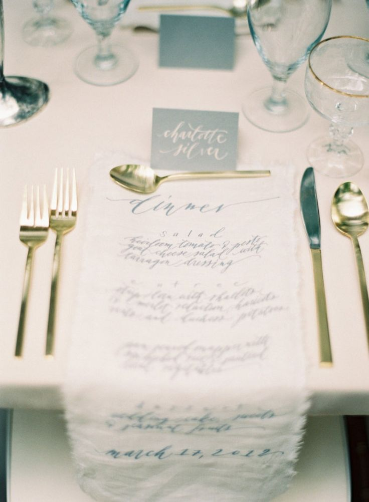 Fabric Menus and Invitations