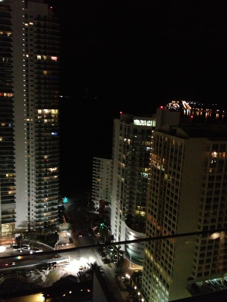 La vista desde el Conrad Hilton en Brickell, Miami, FL.