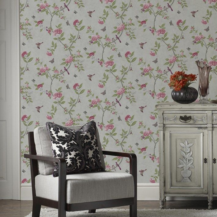 Chinoiserie Parchment Wallpaper - Cream Floral Wall Coverings by Graham  Brown