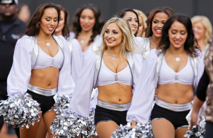 Oakland Raiders cheerleaders MY HOME GIRL JEN!!! FRONT AND CENTER BABY!!