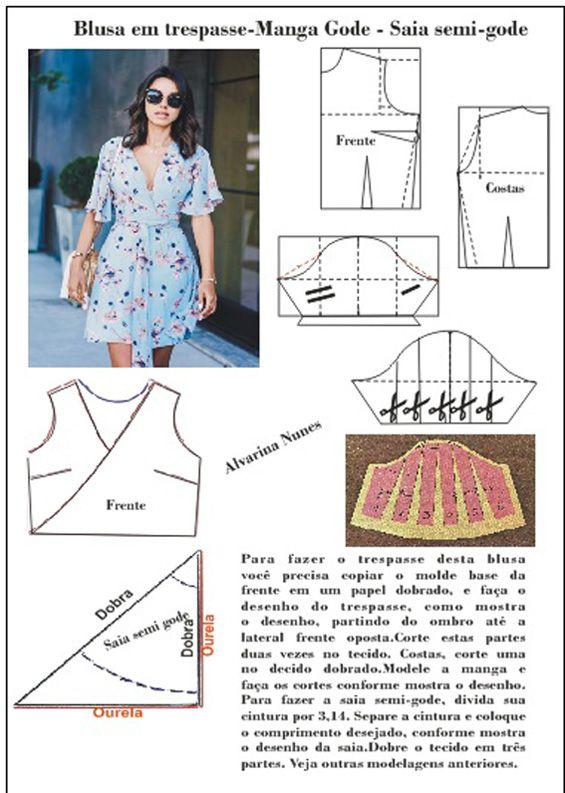 00358d97a8 Vestido com blusa em trespasse