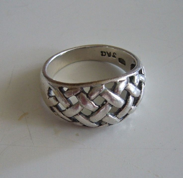 item 577, Aagaard lattice ring, size UK K, costs £35,Scandinavian Silver News: June 2014