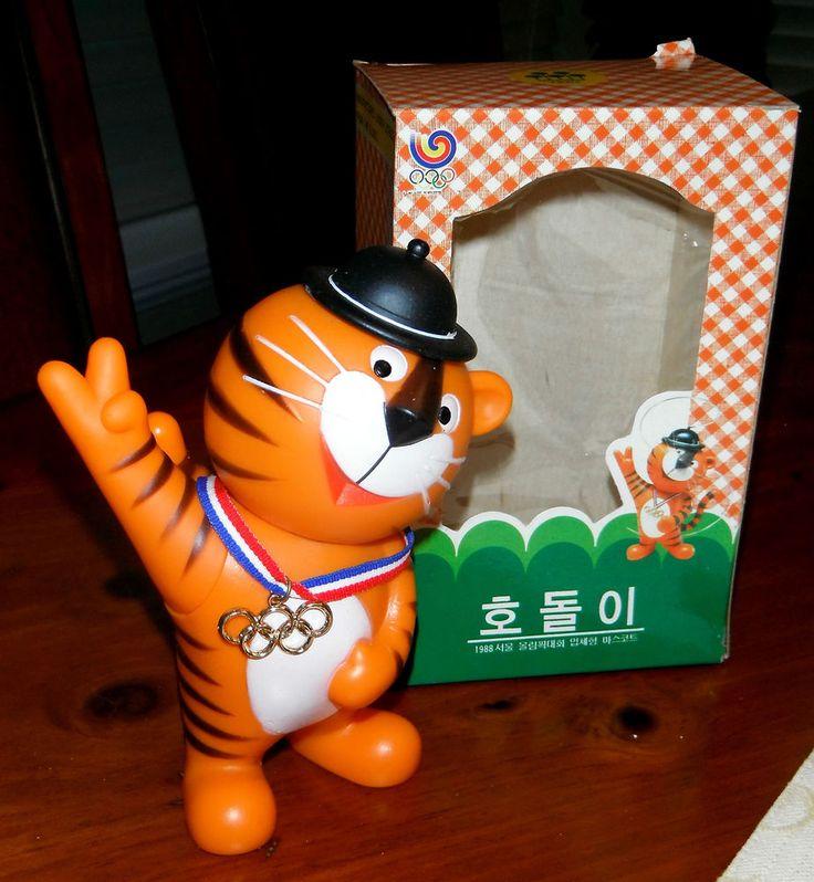 "Hodori 1988 Seoul Olympic Games SQUEAKY TOY 5"" Mascot in Original Box VERY RARE    eBay"