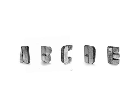 Pre-Fab Type de David McGillivray via DomingoRecreativos: Concrete Alphabet, Stonehenge Typefac, Concrete Fonts, Concrete Typefac, Mcgillivray Concrete, Concrete Typography, Design, David Mcgillivray, Concrete Types