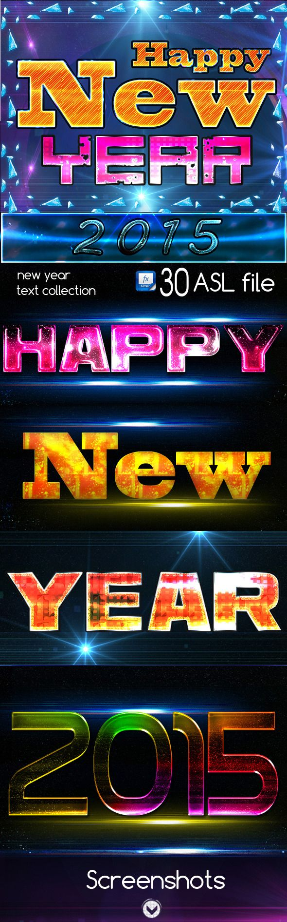 Happy New Year 2015 Text Effects