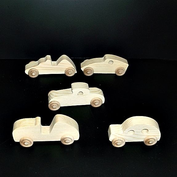 Cars-Race Cars Birthday Party Pack 20 BP-500AH-U unfinished or finished  by VMWoodFactree, $33.30 USD