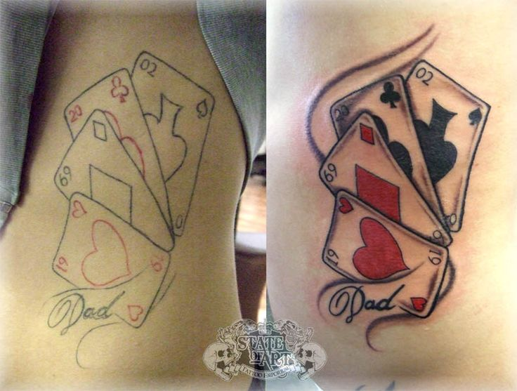 playing card tattoo ideas   Playing Cards Tattoo Designs Photos   Tattoos Pictures Images