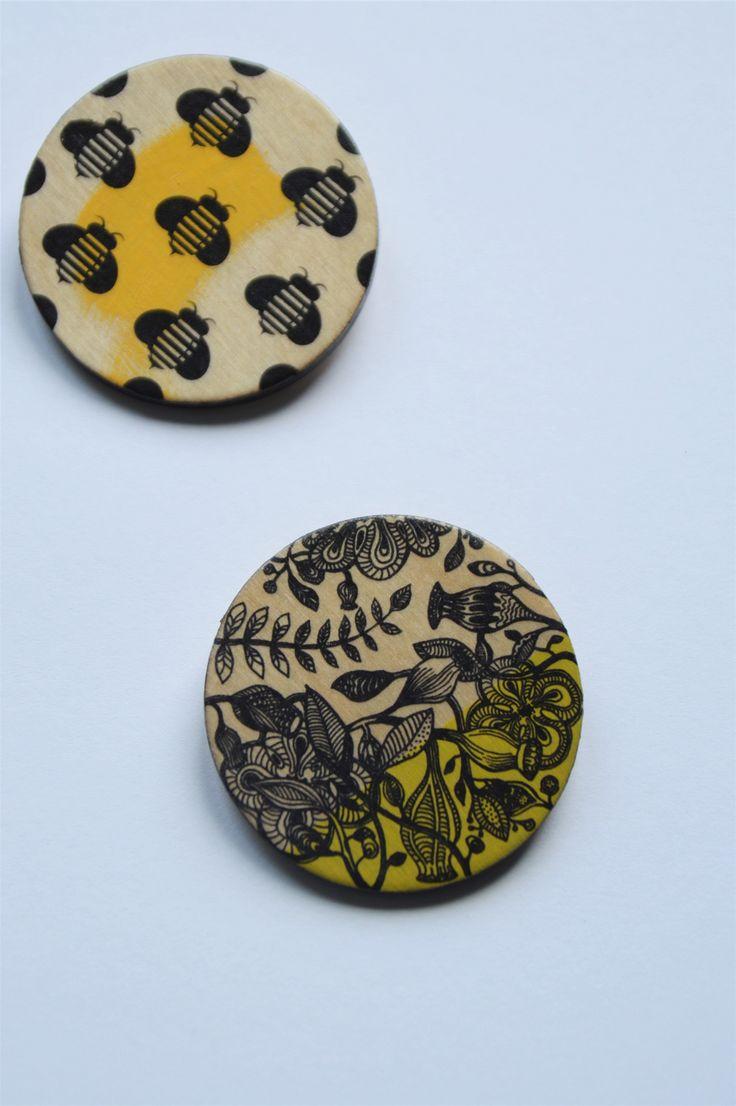 birchwood brooch, by jagurka