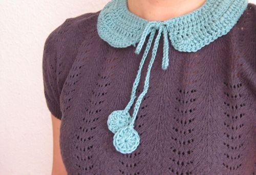 crochet collarCrochet Collars, Crochet Ideas, Pan Crochet, Georgette Collars, Crochet Knits Needlework, Crafty Crochet, Crochet Ganchillo, Crochetcollar, Collars Cuellos Gargantillas