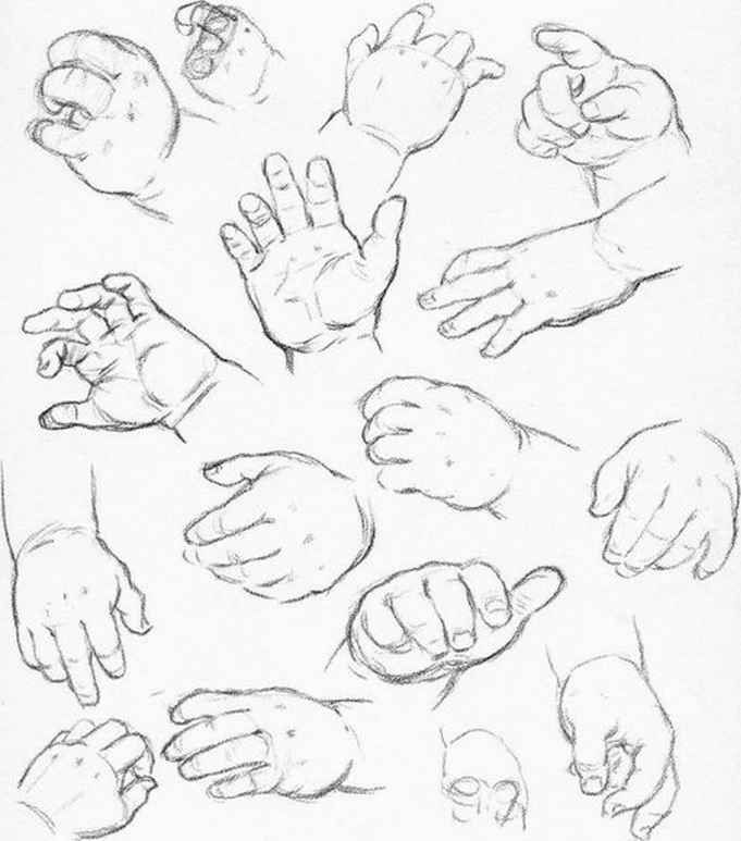 How Sketch Baby Hands                                                       …